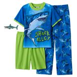 Boys 8-20 Up-Late Shark Alley 3-Piece Pajama Set With Gift