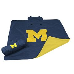 Logo Brand Michigan Wolverines All-Weather Blanket