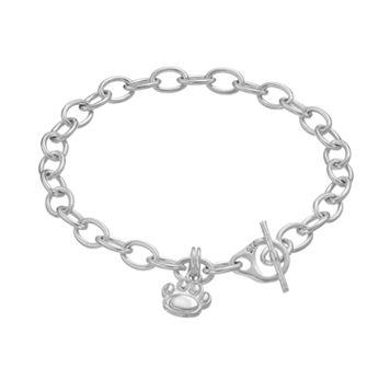 Dayna USterling Silver Penn State Nittany Lions Charm Toggle Bracelet