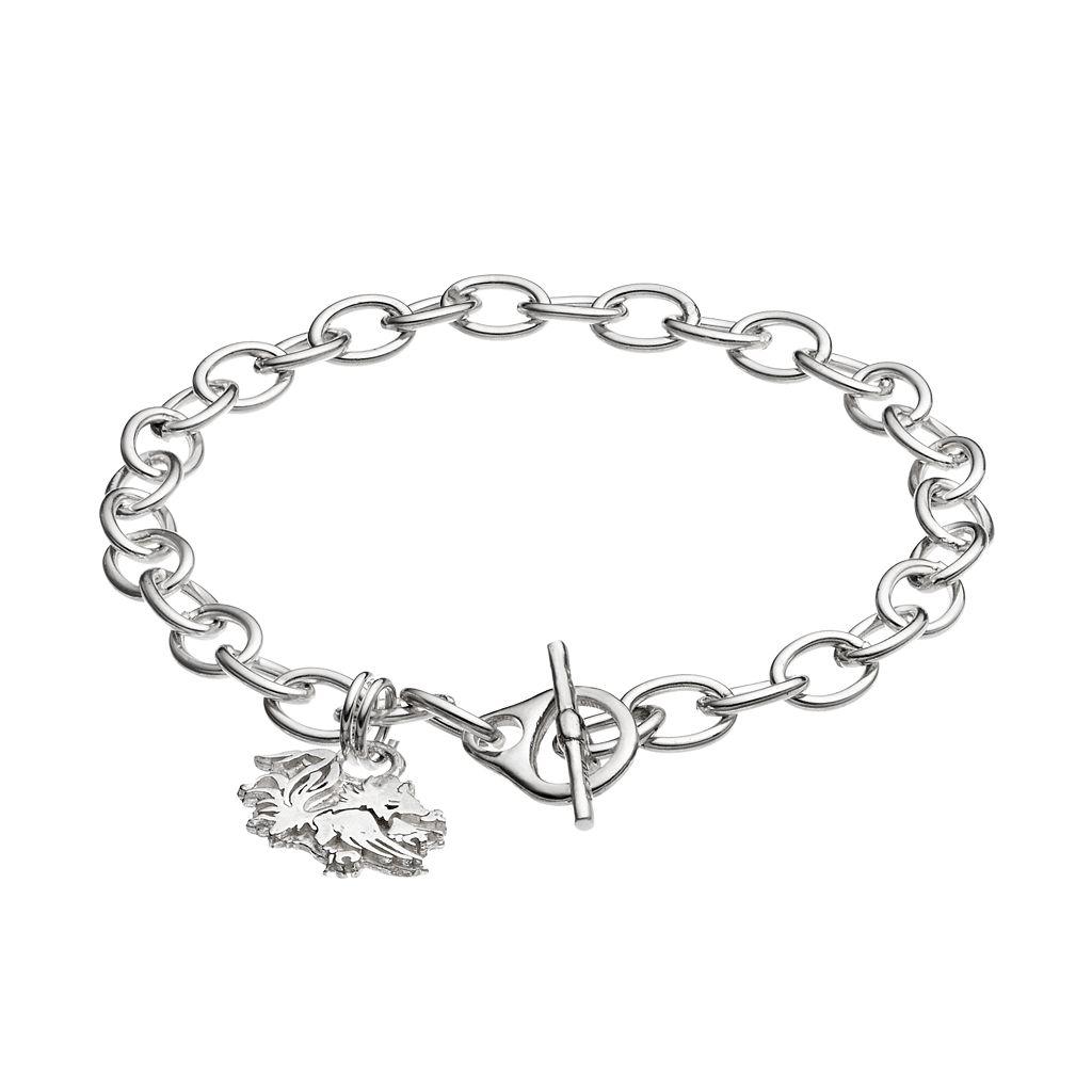 Dayna U South Carolina Gamecocks Sterling Silver Toggle Bracelet
