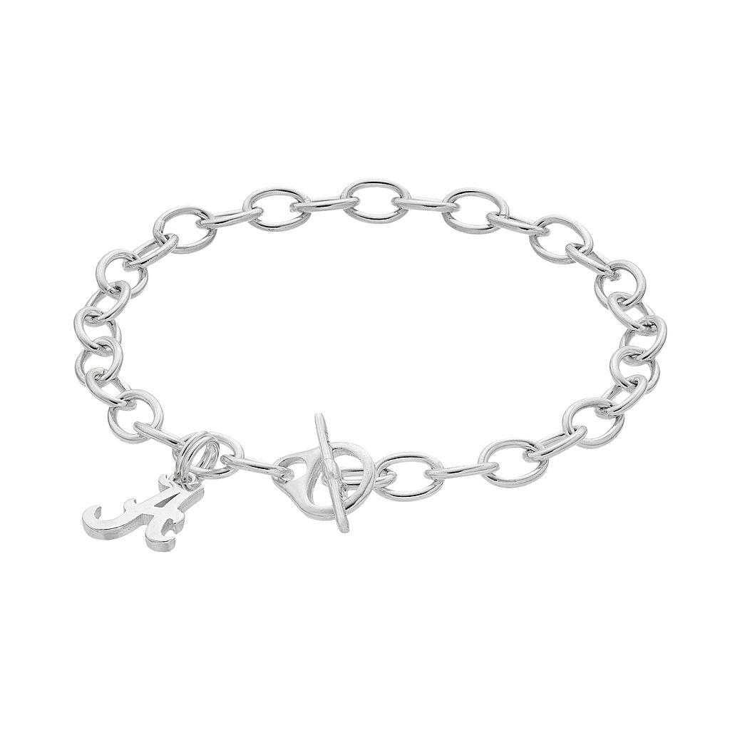 Dayna U Alabama Crimson Tide Sterling Silver Toggle Bracelet