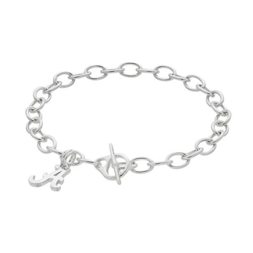 Dayna U Alabama Crimson Tide Sterling Silver Toggle Bracelet