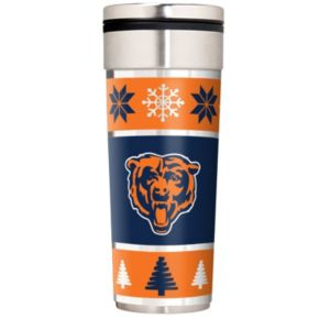 Chicago Bears Ugly Sweater Travel Tumbler