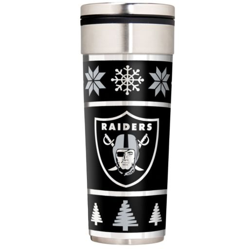 Oakland Raiders Ugly Sweater Travel Tumbler