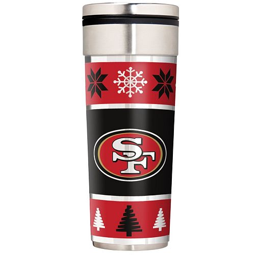 San Francisco 49ers Ugly Sweater Travel Tumbler