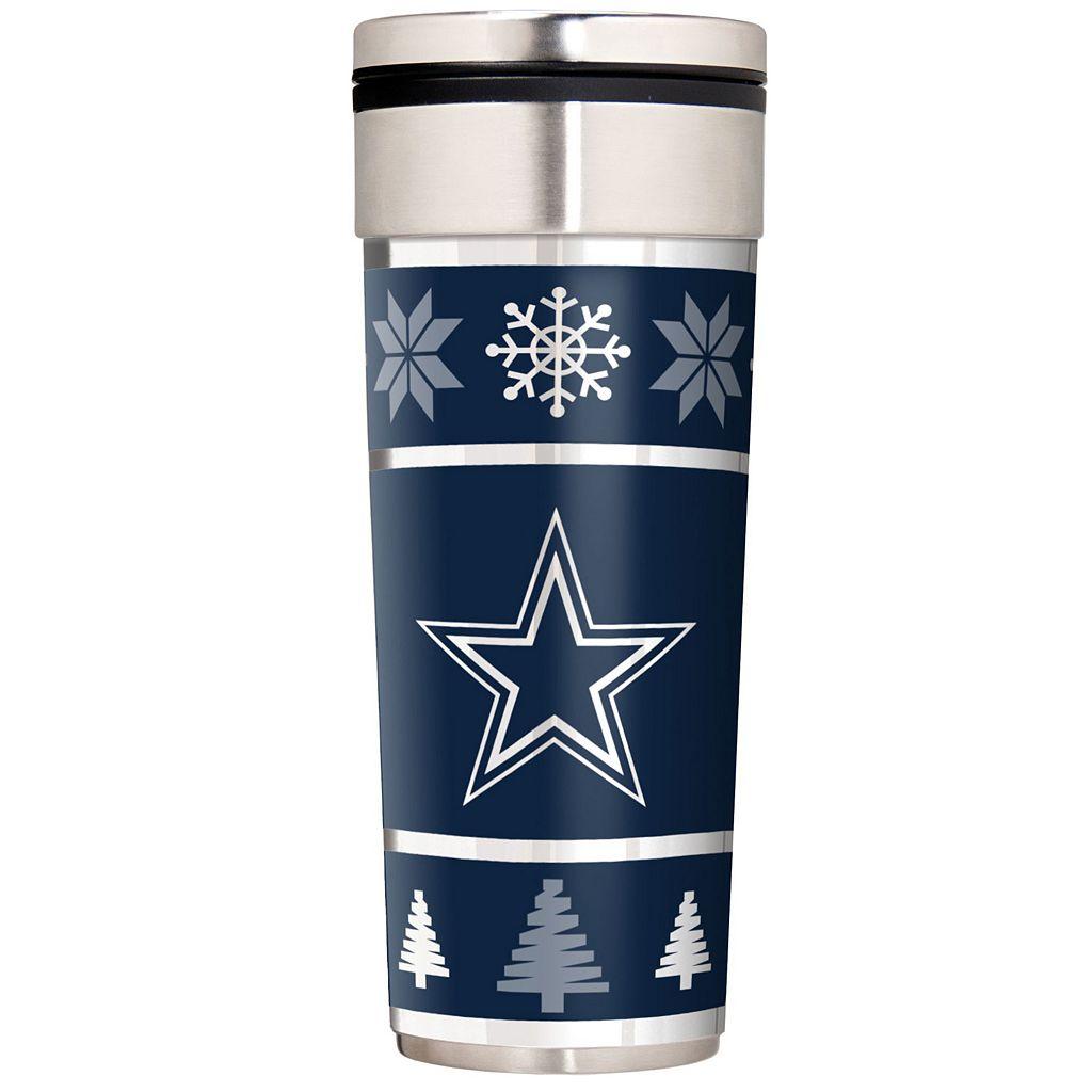 Dallas Cowboys Ugly Sweater Travel Tumbler