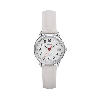 Timex Easy Reader Silver Tone Leather Watch - T2H3919J - Women