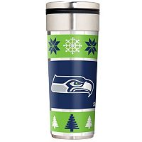 Seattle Seahawks Ugly Sweater Travel Tumbler