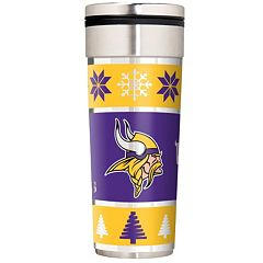 Minnesota Vikings Ugly Sweater Travel Tumbler