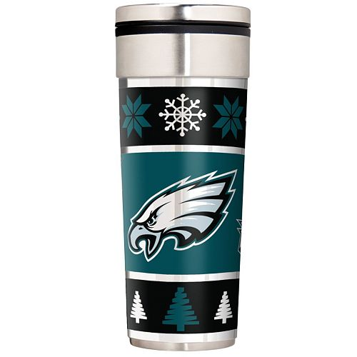 Philadelphia Eagles Ugly Sweater Travel Tumbler