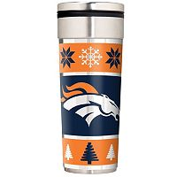Denver Broncos Ugly Sweater Travel Tumbler