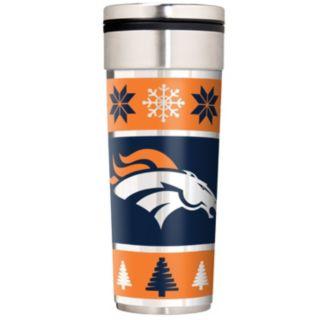 Denver Broncos Ugly Sweater Travel Tumbler