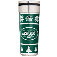 New York Jets Ugly Sweater Travel Tumbler