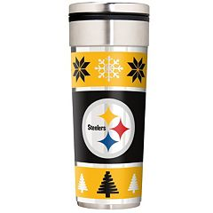 Pittsburgh Steelers Ugly Sweater Travel Tumbler