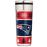 New England Patriots Ugly Sweater Travel Tumbler