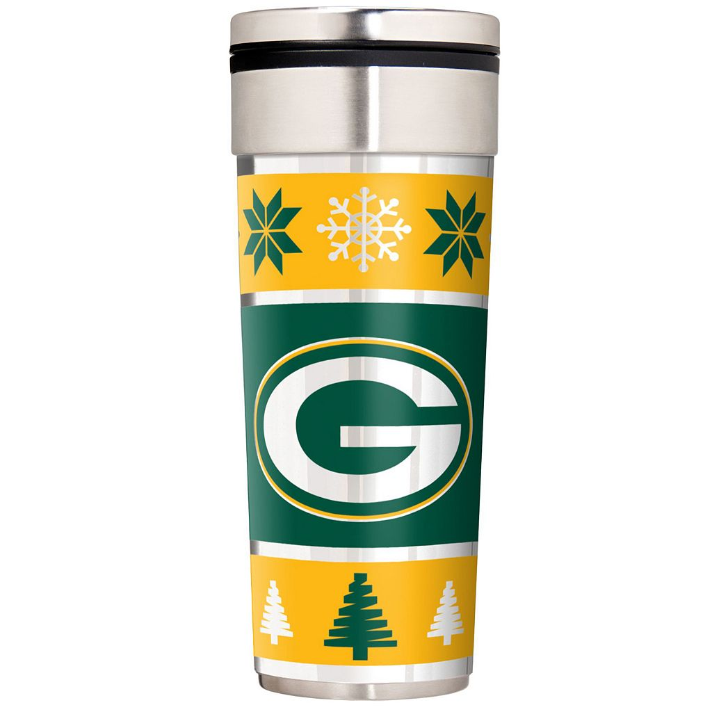 Green Bay Packers Ugly Sweater Travel Tumbler
