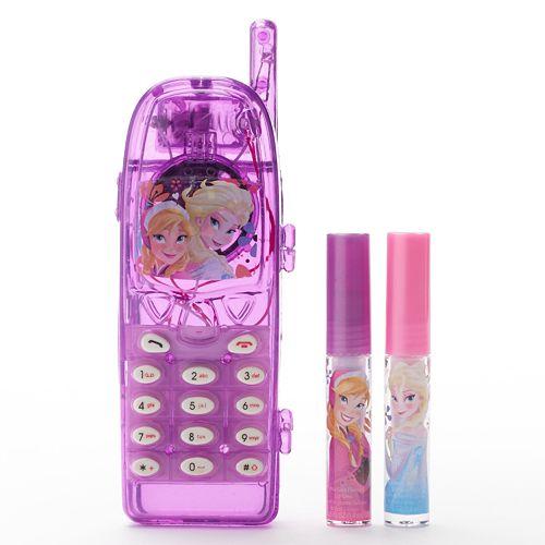 Disney Frozen Girls Light-Up Cell Phone Lip Gloss Case