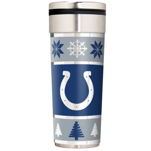 Indianapolis Colts Ugly Sweater Travel Tumbler