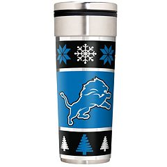 Detroit Lions Ugly Sweater Travel Tumbler