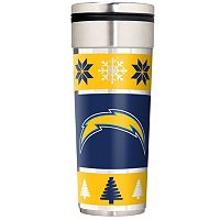 San Diego Chargers Ugly Sweater Travel Tumbler