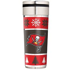 Tampa Bay Buccaneers Ugly Sweater Travel Tumbler