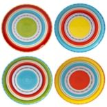 Certified International Mariachi 4-pc. Dinner Plate Set