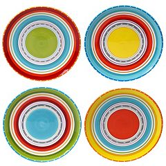 Certified International Mariachi 4 pc Dinner Plate Set
