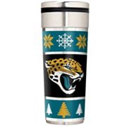 Jacksonville Jaguars Ugly Sweater Travel Tumbler