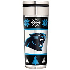 Carolina Panthers Ugly Sweater Travel Tumbler