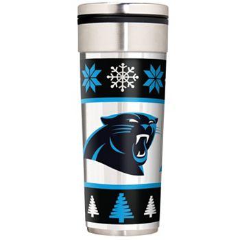 Carolina Panthers Ugly Sweater Travel Tumbler