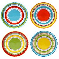 Certified International Mariachi 4-pc. Salad Plate Set