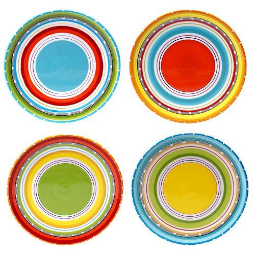 Certified International Mariachi 4-pc. Salad Plate Set