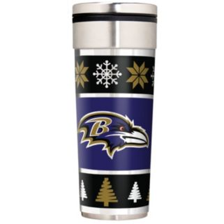 Baltimore Ravens Ugly Sweater Travel Tumbler