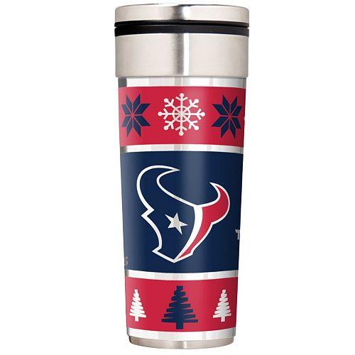 Houston Texans Ugly Sweater Travel Tumbler