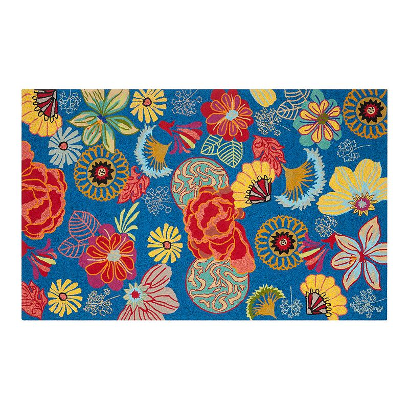 Safavieh Four Seasons Arcadia Floral Indoor Outdoor Rug, 3.5X5.5 Ft