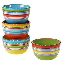 Certified International Mariachi 4 pc Ice Cream Bowl Set
