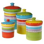 Certified International Mariachi 4-pc. Kitchen Canister Set