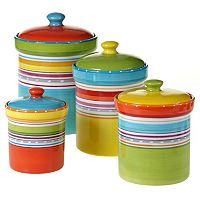 Certified International Mariachi 4 pc Kitchen Canister Set
