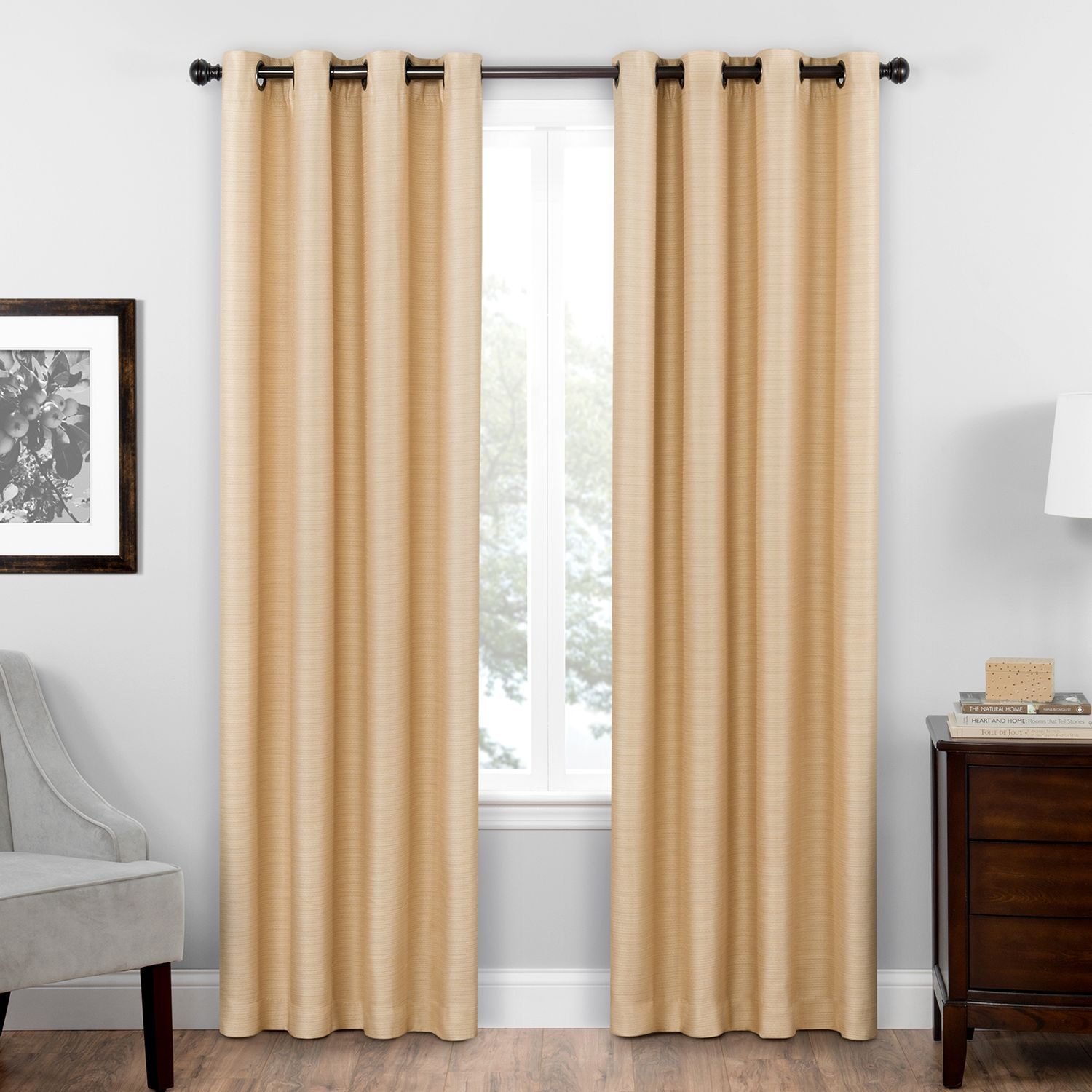 Attirant Eclipse Thermaweave Blackout 1 Panel Bryson Window Curtain