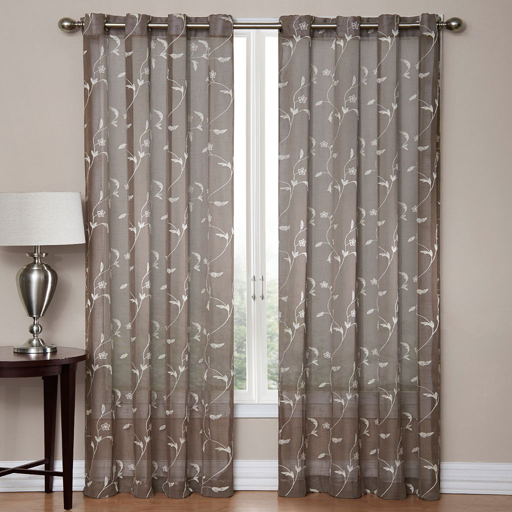 SONOMA Goods for Life™ Delany Embroidered Sheer Window Curtain