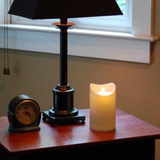 LumaBase Luminarias Action Flame LED Pillar Candle 3.5'' x 5''