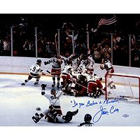 Steiner Sports Jim Craig Signed USA Celebration Photo