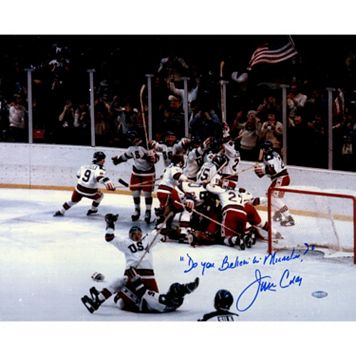 Steiner Sports Jim Craig Signed USA Celebration Photo