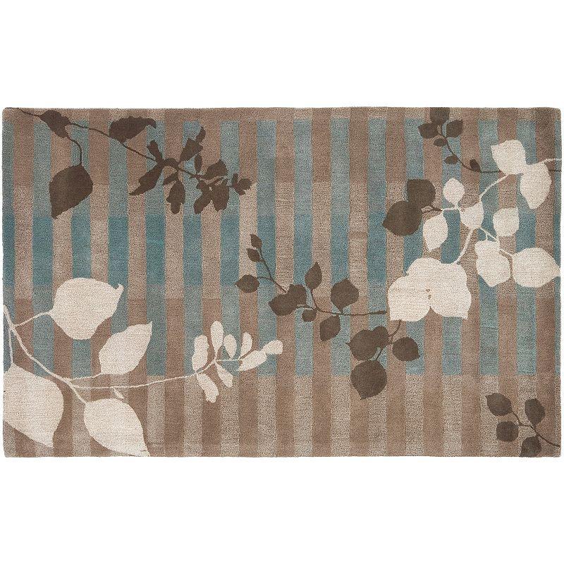 Decor 140 Stella Smith Leaf Wool Rug, Grey, 8X11 Ft