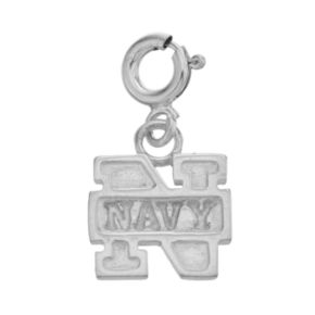 Dayna U Sterling Silver Navy Midshipmen Team Logo Charm