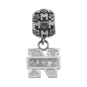 Dayna U Sterling Silver Navy Midshipmen Team Logo