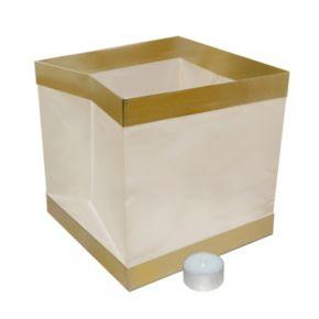 LumaBase Luminarias 12-Piece Floating Lantern and Tealight Candle Set