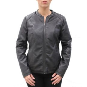 Women's MO-KA Faux-Leather Moto Jacket