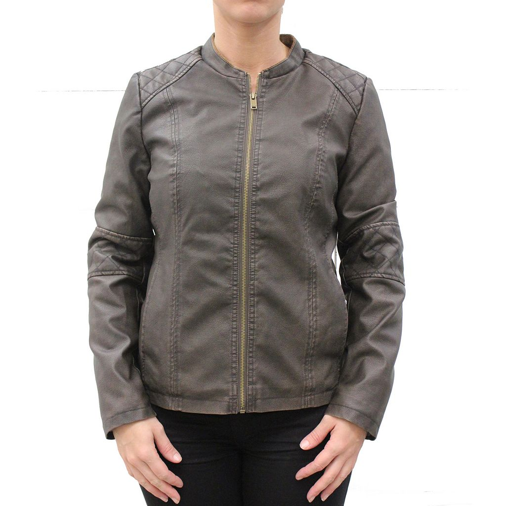 Women's MO-KA Faux-Leather Moto Jacket