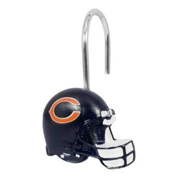 Chicago Bears 12-Pack Shower Curtain Hooks